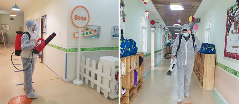 Shandong Hightop Group conducts all-round disinfection work for Aile Kindergarten in Jining High-tech Zone for free